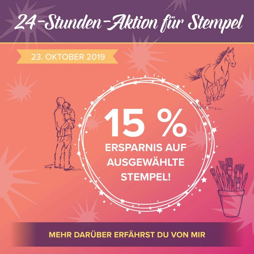 15% Rabatt: 24 Stunden Aktion für Stempel